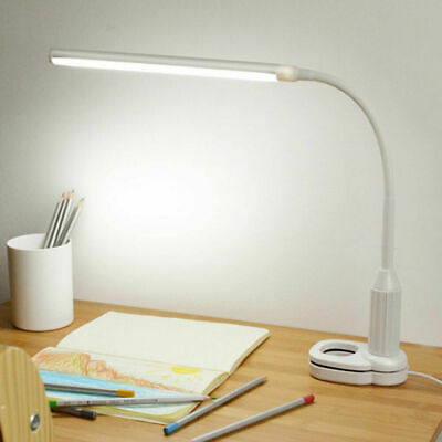 LED Reading Light Desk Lamp Foldable Clip-on Flex Arm Eye Care Home Study N5K3Z
