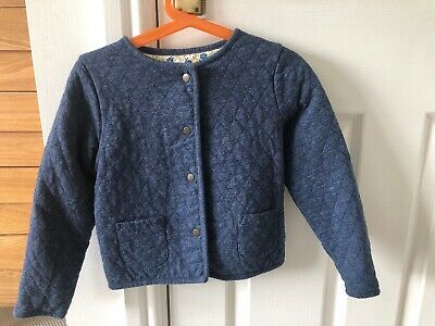 Mini Boden Girls Reversible Quilted Jacket Blue 2-3 Years Only Worn Once