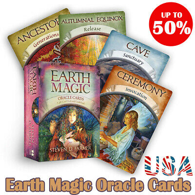 Magic Oracle Cards Earth Magic Read Fate Tarot 48card Deck - E-edition Guidebook