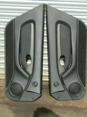 Mgf Mg Tf Dark Grey / Black Door Cards Complete With Inserts.