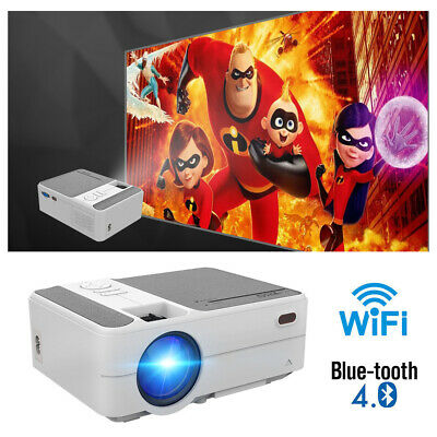 3200lms Smart HD Android 6.0 Bluetooth Projector Netflix Apps Christmas Party AU