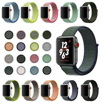 Sport Watches Band Strap Woven Nylon Bracelet Loop For iWatch Series 4 3 2 1