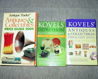 Antique Trader Collectibles 2004 Guide Kovels Depression Glass Book Lot of 3