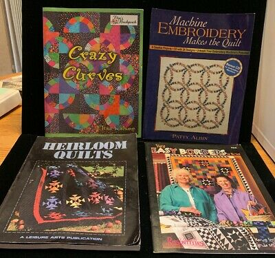 4 Quilting Books: Crazy Curves, Heirloom Quilts, And More! (BK12)