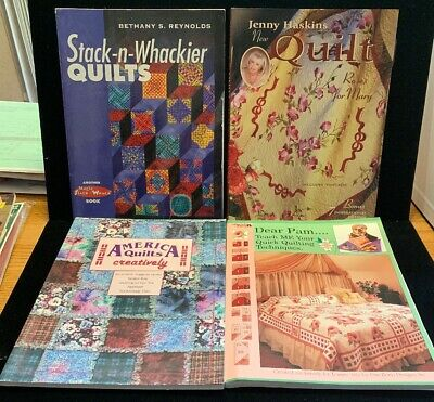 4 Quilting Books: America Quilts, Stack-n-Whackier And More! (BK12)