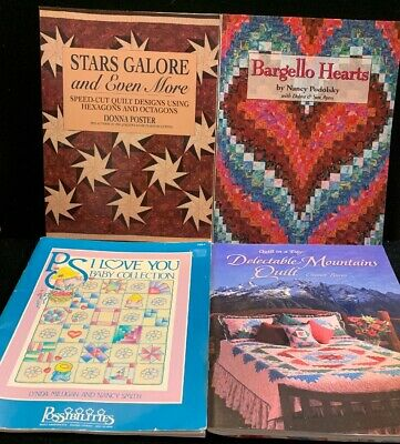 4 Quilting Books: Stars Galore, A Perfect Match And More! (BK13)