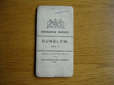 Early Irish Ordnance Survey Map. 1 inch. cloth.  Dunglow. 1905.