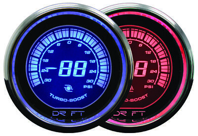 DRIFT 52mm IRIDIUM RED DIGITAL BOOST GAUGE - PSI