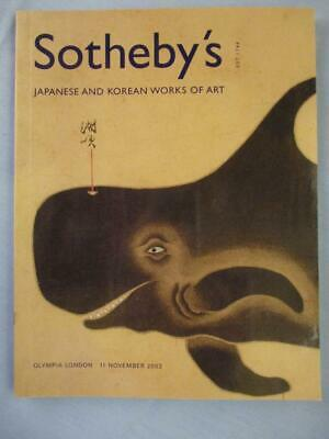 2003 Sotheby's Japanese and Korean Works of Art Olympia London Auction Catalog