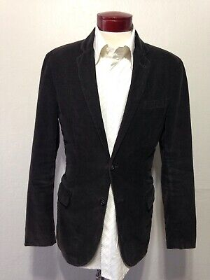 J Crew Dark Brown Corduroy Sport Coat Blazer Jacket Size Medium Men's I252