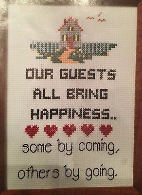 Our Guests Sampler humorous Cross Stitch Kit EXCELLENT