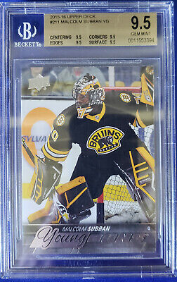 2015-16 Upper Deck Young Guns: # 211 Malcolm Subban. BGS: 9.5 Gem Mint