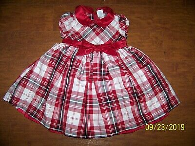 NWT Gymboree Holiday Dressed Up Plaid Red Green Dress Girls Christmas 18-24 M