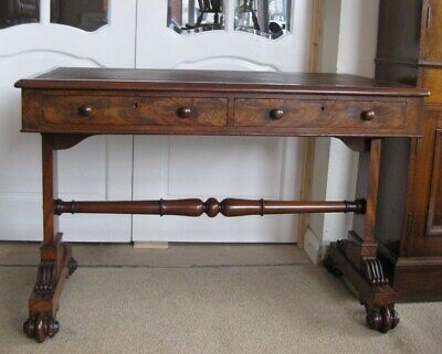 Antique Victorian Walnut Library Leather Top Table / Writing Sofa /Stunning Desk