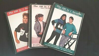 Bk210 Brother Knitting Machine Books Conway 100 In 1 Sweater Books #1 #2 #3