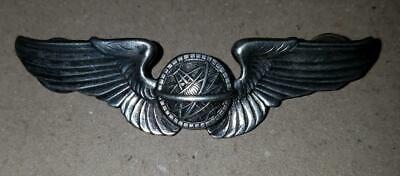 "Ww2 Army Air Corp Navigator Wings - Sterling - 3"" - Clutchback"