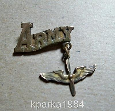 WW2 ERA US ARMY AIR FORCES SWEETHEART PIN - Gold on Silver