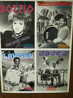 "Remo Drums,Lawson,Chancler,Bozzio,Brown Vintage Photo Poster 20""x 26"""