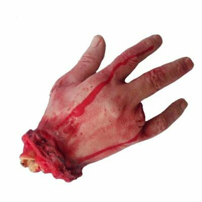 Halloween Realistic Hand Terror Bloody Fake Body Parts Severed Arm Hand Prop