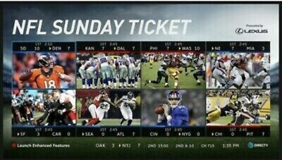 NFL Sunday Ticket-Entire 2019 Season.  Instant Delivery+Warranty
