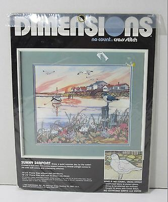Dimensions No Count Cross Stitch Kit Sunny Seaport 3932
