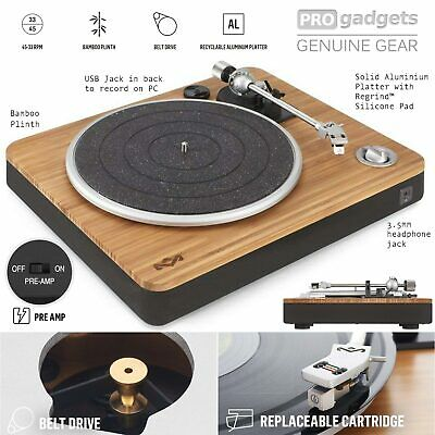 Genuine House of Marley Stir It Up Pre-Amp Turntable Record Vinyl Player USB PC