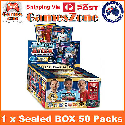 50 Pack 2019 /20 Topps Match Attax UEFA Champions League Soccer Sealed Box