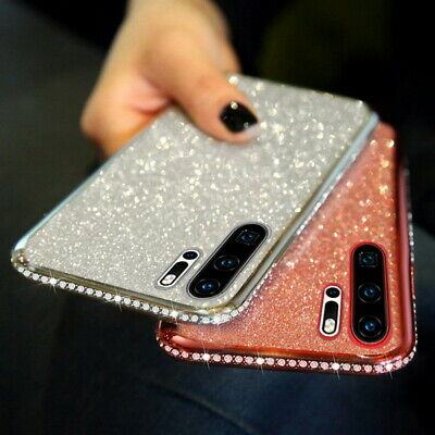 Plating Bling Diamond Soft Case Cover For Huawei P30 Pro Lite P20 Mate 20 Nova 5