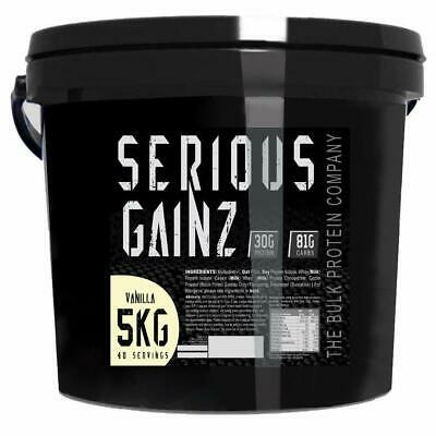 BEST Serious Gainz Mass Gainer Protein Powder Vanilla 5kg Serious Gainz UK FAST