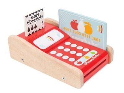 NEW Le Toy Van Card Machine - Includes Bank Card & Receipts - Pretend Shop Play