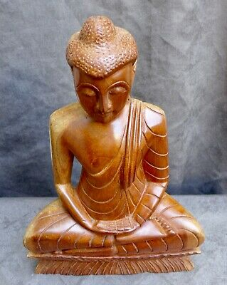 Very Nice quality woodcarving, statue of a Buddha, BALI Indonesia collected 1959