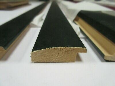 SALE - 4 x 95cm lengths of 38mm Green Wooden Picture Frame Moulding