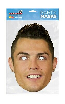 Cristiano Ronaldo Face Party Mask Card A4 Fancy Dress Ladies Men Kids Football