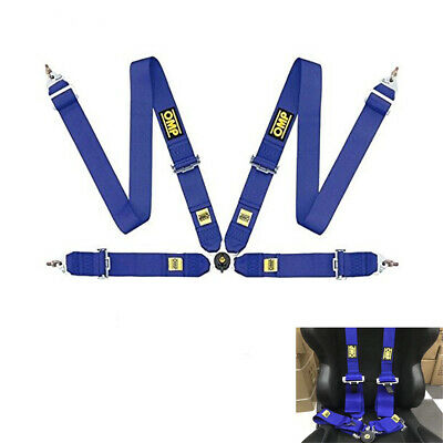 OMP Blue Harness 4 points Seatbelt Rally Racing Standard FIA Approved
