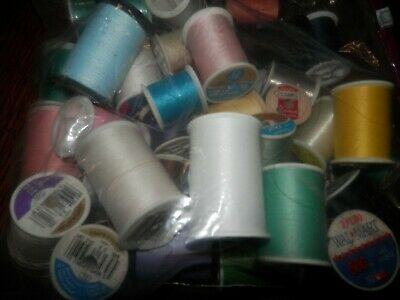 Huge Lot of Sewing Threads, Lot of Over 30 Spools