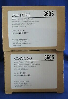 50 Corning 96 Well White RB Assay Plates 330uL #3605