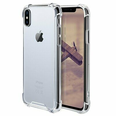 For iPhone 11 Pro Max 7 8 Plus XR Shockproof soft Silicone Protective Case Cover