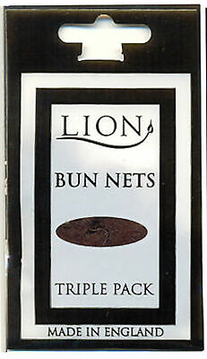 BUN NETS x 2, TWO Triple Packs, Lion Haircare, Best Quality, ALL 7 COLOURS.