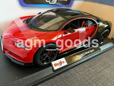 Maisto 1:18 Scale - Bugatti Chiron Sport - Red - Diecast Model Car