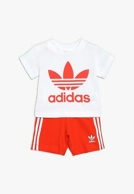 Short Tee Set Adidas Originals DV2814 White/Actora Fashion Junior Lifestyle