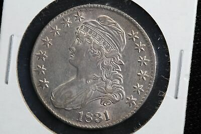 1831 Capped Bust Liberty Half Dollar AU 9INS