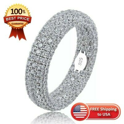 Silver 925 Cubic Zirconia Ring Sterling Stamped Retro Stamp Fashion Jc Stones