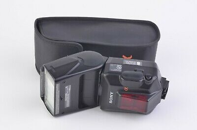 Exc++ Sony Hvl-F56Am Shoe Mount Pro Flash, Case, Tested, Works Great!