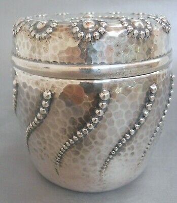 WHITING MFG CO GORHAM STERLING SILVER AESTHEtIC JAPANESQUE TEA CADDY c 1890