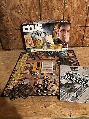 CLUE Harry Potter Hogwarts Edition Moving Board Game Complete, Amazing Game!