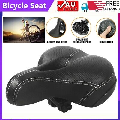 Road MTB Mountain Bike Bicycle Saddle Spring Seat Soft Padded Cushion Wide Cover