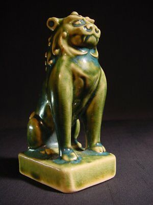 Antique Shishi Lion Fu Foo Dog Oribe Talisman Figurine
