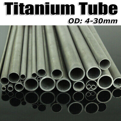 4-30mm OD Gr2 Titanium Tube High Intensity Industrial Ti Pipe 300/400/500mm Long