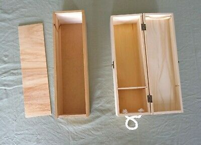 2 Wood Wine boxes for craft or Presentation