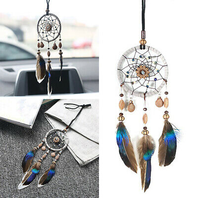 Dream Catcher Beaded Car Home Wall Hanging Bead Ornament Feathers Decoration